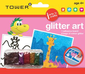 Tower Kids Glitter Art - Giraffe