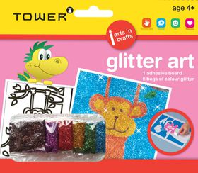 Tower Kids Glitter Art - Monkey