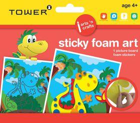 Tower Kids Sticky Foam Art - Dinosaur