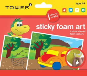 Tower Kids Sticky Foam Art - Car
