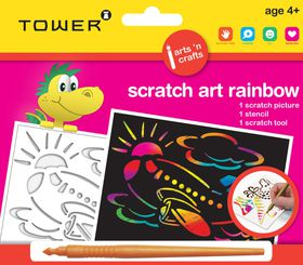 Tower Kids Scratch Art Rainbow - Aeroplane