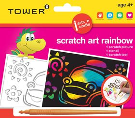 Tower Kids Scratch Art Rainbow - Car
