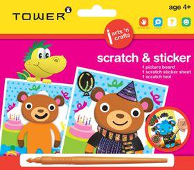 Tower Kids Scratch & Sticker - Bear
