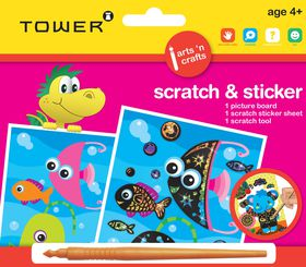 Tower Kids Scratch & Sticker - Fish