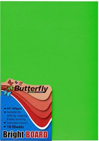Butterfly A4 Bright Board - 10s - Green