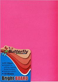 Butterfly A4 Bright Board - 10s - Pink