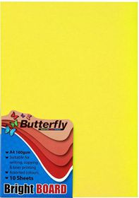 Butterfly A4 Bright Board - 10s - Yellow