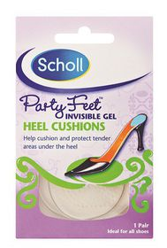 Scholl Party Feet Invisible Gel Heel Cushions - 1 Pair