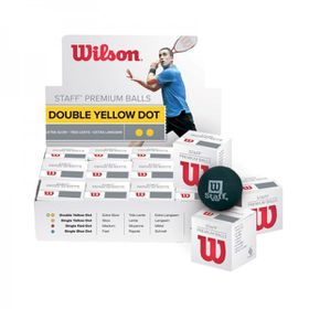 Wilson Ultra Double Yellow Dot Dozen Squash Ball