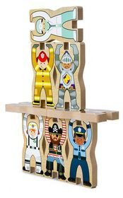 Melissa & Doug Stacking Chunky Wooden Puzzle - Occupations