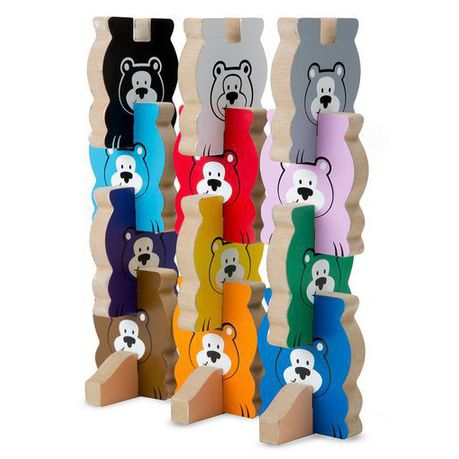 Melissa Doug Stacking Chunky Wooden Puzzle Bears