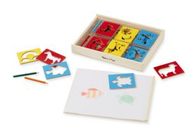 Melissa & Doug Wooden Stencil Box