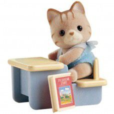Sylvanian Family Carry Case - Cat with Desk
