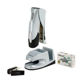 Rexel Gazelle Half Strip G-Pod Stapler and Station - Silver/Black