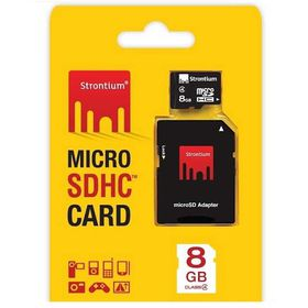 Strontium 8GB MicroSD Card with SD Adaptor - Class 6