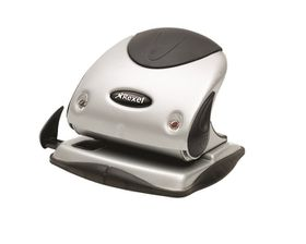 Rexel P225 2 Hole Punch - Silver/Black