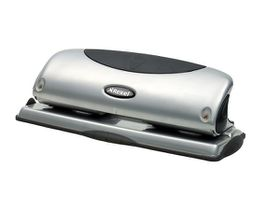 Rexel P425 4 Hole Metal Punch - Silver/Black