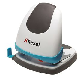 Rexel Easy Touch ET230 2 Hole Punch - White/Blue