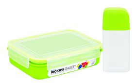 Komax - Biokips Rectangle Lunchbox and Juice Bottle - Green