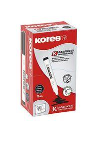 Kores Whiteboard Marker Bullet Tip - Black (Box of 12)