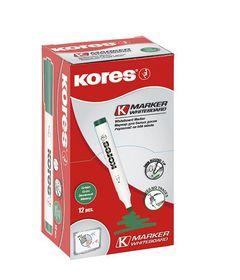 Kores Whiteboard Marker Bullet Tip - Green (Box of 12)