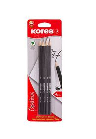 Kores Grafitos HB Pencils (Pack of 4)