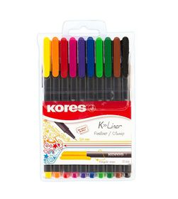 Kores K-liner Triangular Fineliners (Wallet of 10)