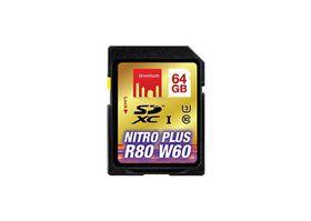 Strontium 64GB Nitro Plus SD SDXC UHS-1 Card (Read 80MB/s Write 60MB/s)