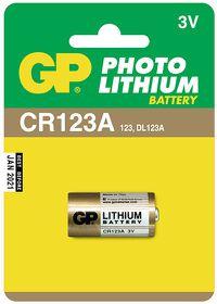 GP Batteries 3V CR123A Photo Lithium Battery