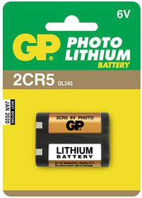 GP Batteries 6V 2CR5 Photo Lithium Battery
