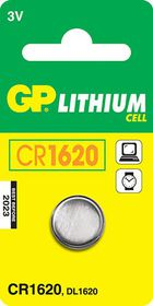 GP Batteries 3V CR1620 Lithium Coin Battery