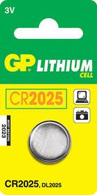 GP Batteries 3V CR2025 Lithium Coin Battery
