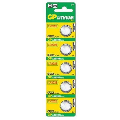 GP Batteries 3V CR2025 Lithium Coin Batteries