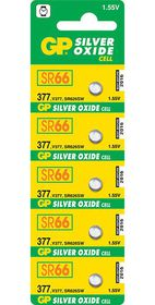 GP Batteries 1.55V 377 Silver Oxide Button Cell Batteries