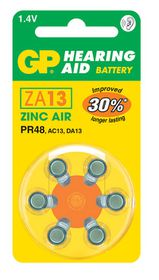 GP Batteries 1.4V ZA13 Hearing Aid Zinc Air Batteries