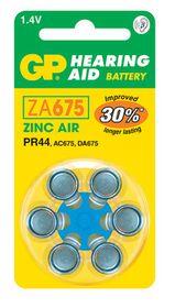 GP Batteries 1.4V ZA675 Hearing Aid Zinc Air Batteries
