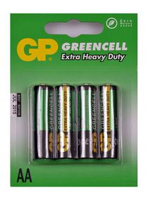 GP Batteries 1.5V AA Carbon Zinc Green Cell Batteries