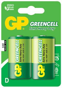 GP Batteries 1.5V D Carbon Zinc Green Cell Batteries