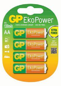 GP Batteries 1.2V AA 1050 mAh Rechargeable Eko Power Batteries
