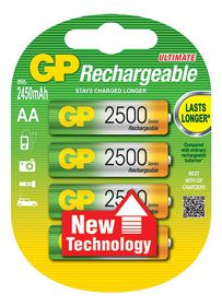GP Batteries 1.2V AA 2500 mAh NiMH Rechargeable Batteries