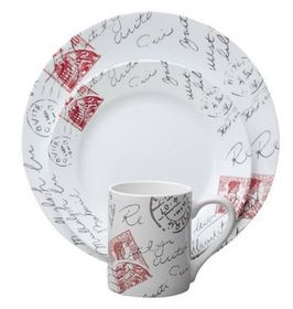 Corelle - Impressions Sincerely Yours 16 Piece Dinnerware Set