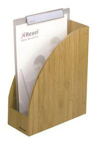 Rexel Bamboo Magazine Rack