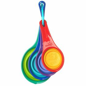 Squish - Collapsible 4 Piece Measuring Cup Set - Multi-Coloured