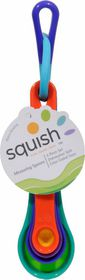 Squish - Collapsible 4 Piece Measuring Spoon Set - Multi-Coloured
