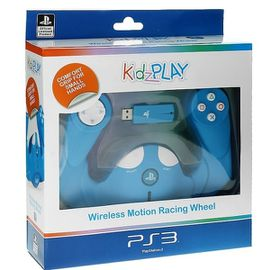 KidzPLAY Wireless Motion Wheel - Blue (PS3)