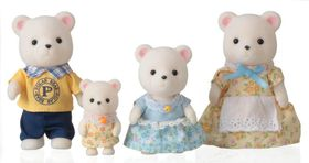 Sylvanian Family Polar Bear Family