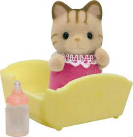 Sylvanian Family Striped Cat Baby