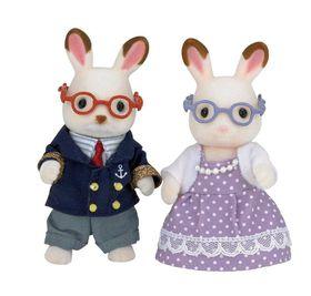 Sylvanian Family Chocolate Rabbit Grandparents