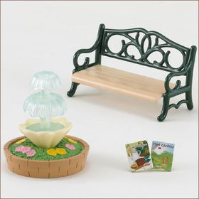 Sylvanian Family Bench and Fountain