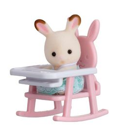 Sylvanian Family Baby Carry Case with Baby Chair - Rabbit